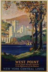 West Point - New York Central Lines Travel Poster by Frank Hazell