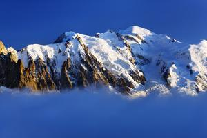 Aiguille Du Midi (3,842M) and Mont Blanc (4,810M) at Sunset, Haute Savoie, France, Europe by Frank Krahmer