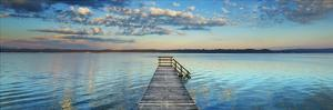 Boat ramp and filigree clouds, Bavaria, Germany by Frank Krahmer