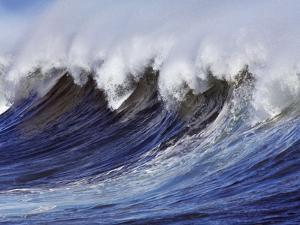 Breaking wave on the North Shore of Oahu by Frank Krahmer