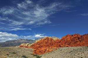 Eroded Landscape in Red Rock Canyon by Frank Krahmer