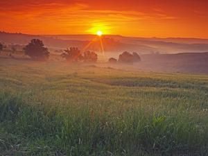 Farmland at Sunrise by Frank Krahmer