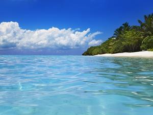 Lagoon at Soneva Fushi Resort in the Baa Atoll by Frank Krahmer