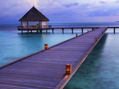 Pier at Island Hideaway at Dhonakulhi in Haa Alifu Atoll