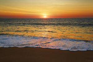 Sunset Impression at Ocean by Frank Krahmer