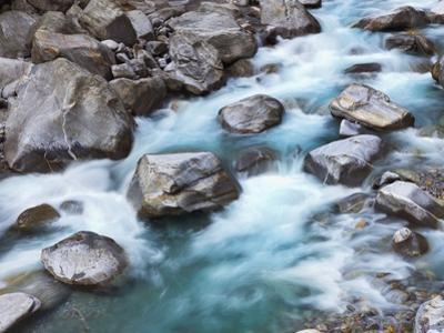Verzasca River rushing over boulders