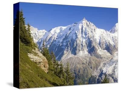 Aiguilles de Mont Blanc, Aguilles du Midi and Glacier des Bosson