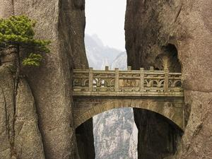 Bridge in the Huangshan Mountains by Frank Lukasseck