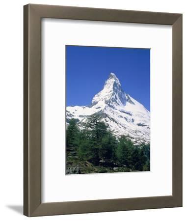 Matterhorn, with snow covered peak, Switzerland, Zermatt