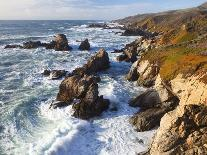 Natural rock arch in surf at Garrapata State Park-Frank Lukasseck-Photographic Print