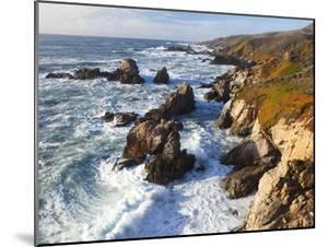 Natural rock arch in surf at Garrapata State Park by Frank Lukasseck