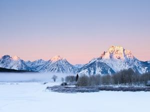 Oxbow Bend in Grand Teton National Park in winter by Frank Lukasseck
