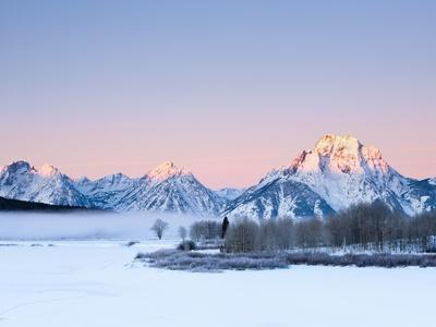 Oxbow Bend in Grand Teton National Park in winter