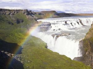 Rainbow over Gulfoss Waterfall by Frank Lukasseck