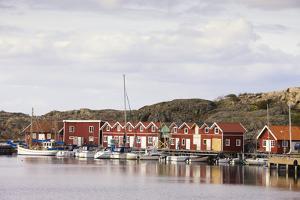 Sweden, BohuslŠn, Fishing Settlement RšnnŠng, Harbour, Boats, Houses by Frank Lukasseck