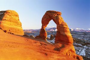 USA, Utah, Arches National Park, Delicate Arch, Winters by Frank Lukasseck
