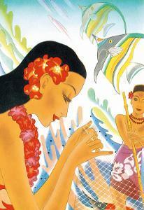 Hawaiian Gifts of the Sea, Menu Cover, c. 1930s by Frank MacIntosh