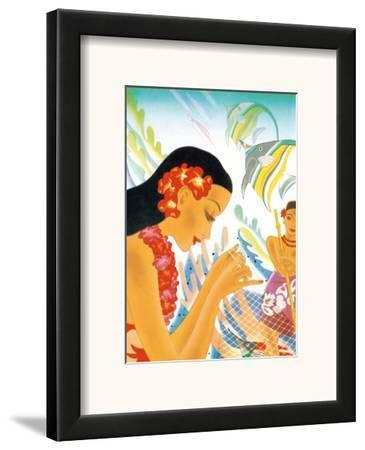 Hawaiian Gifts of the Sea, Menu Cover, c. 1930s