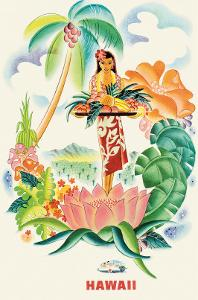 Matson Lines to Hawaii, Tropical Abundance c.1930s by Frank MacIntosh