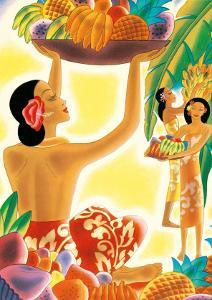 The Hawaiian Abundance, Menu Cover, c. 1930s by Frank MacIntosh