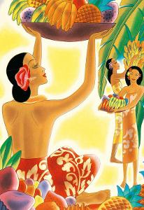 The Hawaiian Abundance, Menu Cover, c. 1930s by Frank MacIntosh