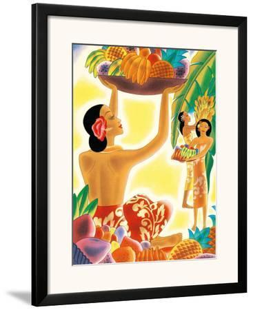 The Hawaiian Abundance, Menu Cover, c. 1930s