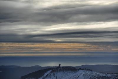 Winter on the Highest Harz Mountain, the Brocken