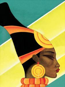African Woman in Profile by Frank Mcintosh