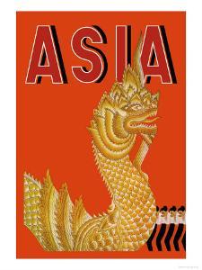 Dragon Temple of Siam by Frank Mcintosh