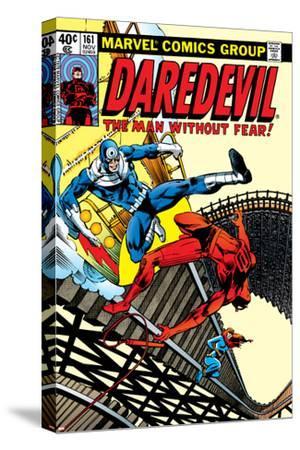 Daredevil No.161 Cover: Daredevil, Bullseye and Black Widow