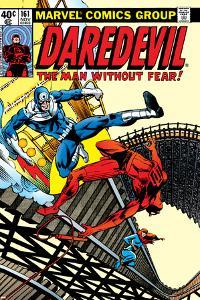 Daredevil No.161 Cover: Daredevil, Bullseye and Black Widow by Frank Miller
