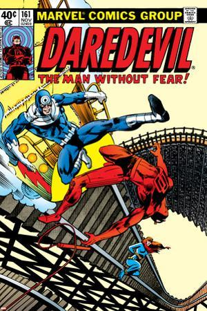 Daredevil No.161 Cover: Daredevil, Bullseye and Black Widow by Frank Miller