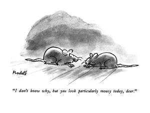 """I don't know why, but you look particularly mousy today, dear."" - New Yorker Cartoon by Frank Modell"