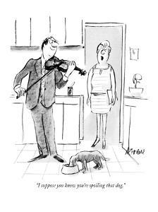 """""""I suppose you know you're spoiling that dog."""" - New Yorker Cartoon by Frank Modell"""