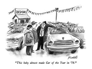 """This baby almost made Car of the Year in '78."" - New Yorker Cartoon by Frank Modell"
