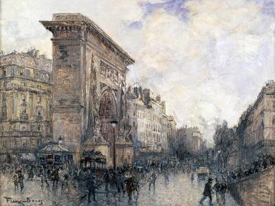 Arc De Triomphe De La Porte St-Denis, Paris, C1875-1926