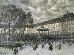 Place De Vosges, Paris, Day of a Concert, Late 19Th/Early 20th Century by Frank Myers Boggs