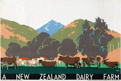 A New Zealand Dairy Farm, from the Series 'Buy New Zealand Produce'
