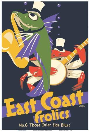 East Coast Frolics - London and North Eastern Railway - Fish Saxophone Crab Banjo