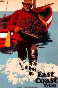 The Lobsterman, LNER Poster, 1923-1947 by Frank Newbould