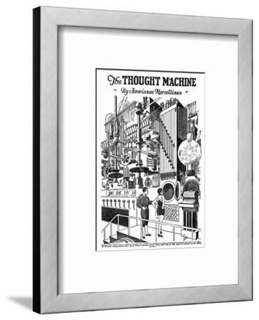 Computer as Envisaged in 1927, Illustration to the Thought Machine by Ammianus Marcellinus