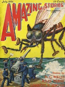 Monster Tsetse Fly by Frank R Paul