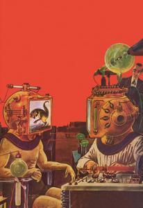 Sci Fi - Projection Helmets, 1929 by Frank R. Paul
