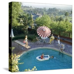 1959: a Family at their Backyard Swimming Pool by Frank Scherschel