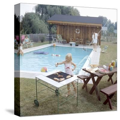 1959: Family Cookout and Enjoying the Backyard Swimming Pool, Trenton, New Jersey