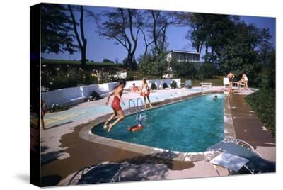 1959: Mrs. Wilbur S. Forrest's Pool in New Hope, Pa., a Treat for Her Eight Grandchildren