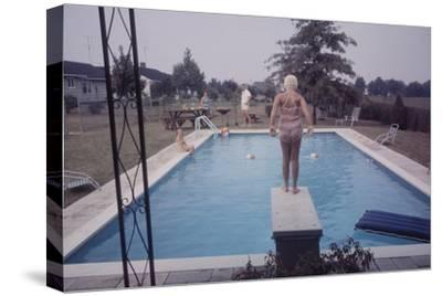 1959: Susan in Diving Stance During a Family Cookout, Trenton, New Jersey