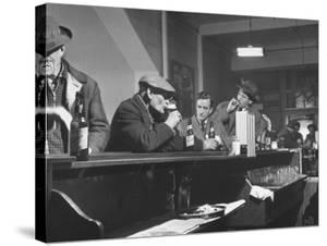 Author William T. Bushman Sitting at a Bar by Frank Scherschel