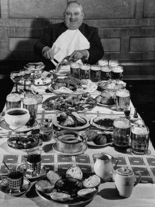 Carpenter George Boehler Eating Each of His Six Meals a Day by Frank Scherschel