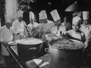 Cooks Preparing Feast For Alba Wedding by Frank Scherschel